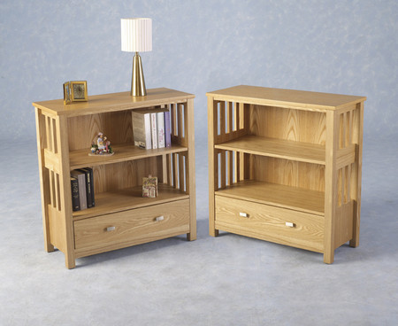Seconique Ashmore 1 Drawer Low Bookcase