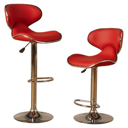 Seconique Bahama Swivel Gas Lift Bar Stool in Red (pair)