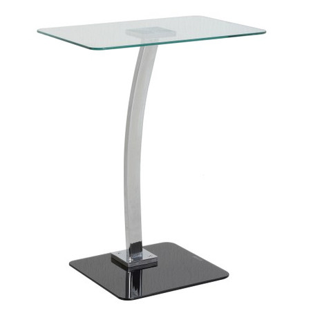Seconique Laptop Table in Clear Glass and Chrome