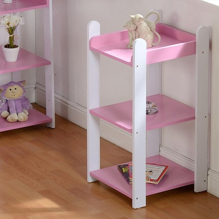 Seconique Lollipop 3 Shelf Unit in Pink and White