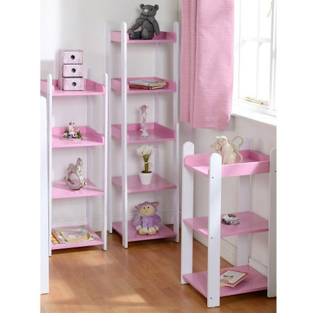 Seconique Lollipop 5 Shelf Unit in Pink and White