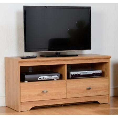 Seconique Regent 2 Drawer TV Unit in Teak
