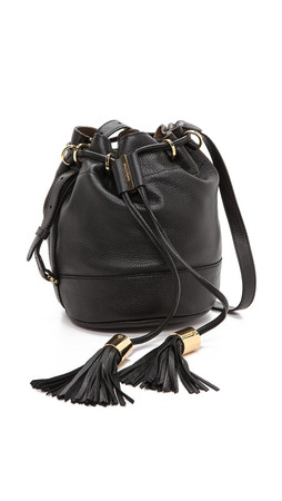 See By Chloe Vicki Small Bucket Bag With Cross Body Strap - Black