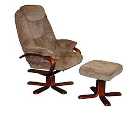Shannon Reclining Chair and Footstool