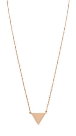 Shashi Arrow Pendant Necklace - Rose Gold