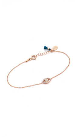 Shashi Evil Eye Bracelet - Rose Gold