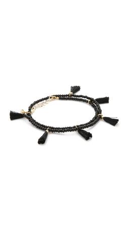Shashi Laila Crystal Bracelet - Black
