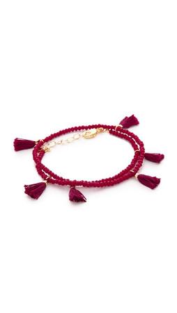 Shashi Laila Crystal Bracelet - Red