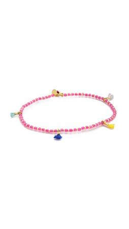 Shashi Lilu Bracelet - Hot Pink/Gold