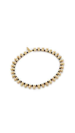 Shashi Lilu Gold Ball Bracelet - Gold/Black