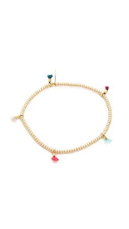 Shashi Lilu Seed Bracelet - Gold Multi