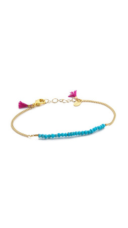 Shashi Natasha Bracelet - Gold/Turquoise