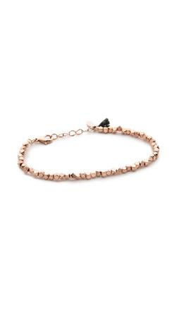 Shashi Nugget Clasp Bracelet - Rose Gold
