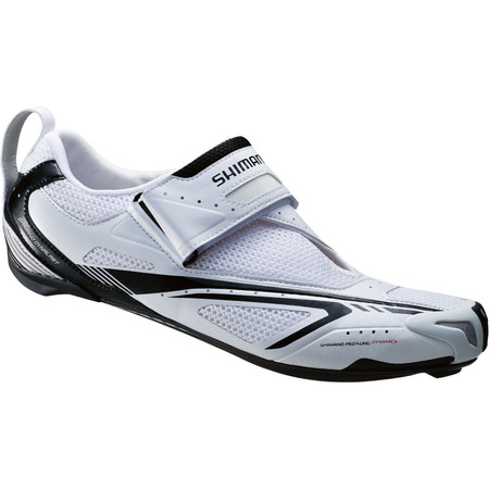 Shimano TR60 SPD-SL Triathlon Shoes - 50 White/Black | Tri Shoes