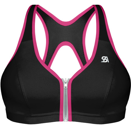 Shock Absorber Active Zipped Plunge - 32B Black/Pink
