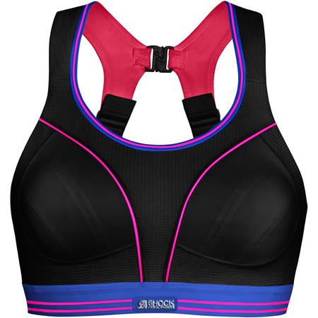 Shock Absorber Ultimate Run Bra - Black/Pink - 38C Black/Neon Pink