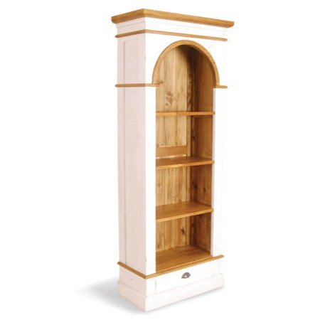 Signature North French Chic Bookcase - antique white
