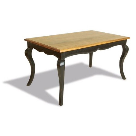 Signature North French Chic Dining Table - antique black