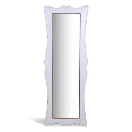 Signature North French Chic Tall Free-Standing Mirror - antique white