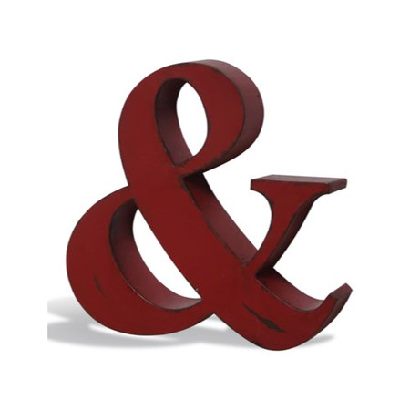 Signature North Industrial Ampersand Wall Art - industrial red