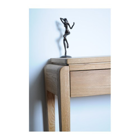 Signature North Tudor Oak Tall Lamp Table