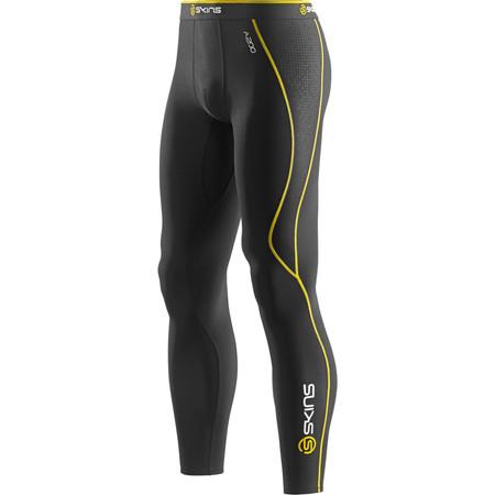 Skins Bio A200 Thermal Long Tight - Large Black/Yellow