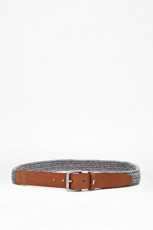 Skyler Woven Leather Belt - Filigree