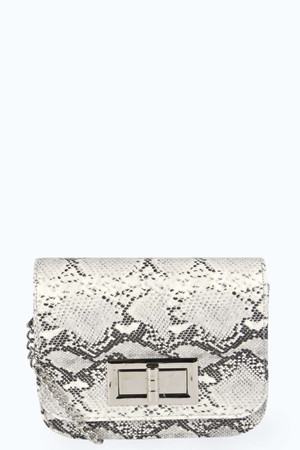 Snake Cross Body Bag - grey