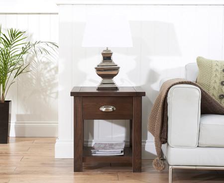 Somerset Dark Oak Lamp Table