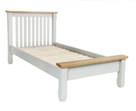 Somerset Oak and Grey Double Bed