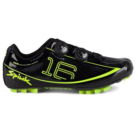 Spiuk Z16MC MTB Shoe - 44 Black/Yellow   Offroad Shoes
