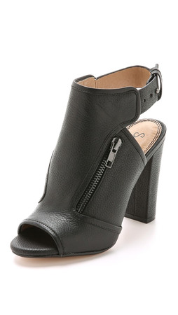 Splendid Janet Open Toe Booties - Black
