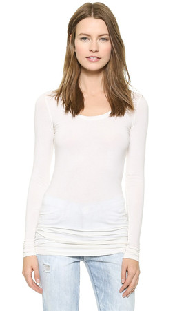 Splendid Layers Long Sleeve Tee - Ecru