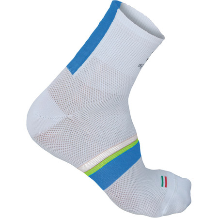 Sportful BodyFit Pro 9cm Socks - 40-43 White/Blue-Yellow | Cycle Socks