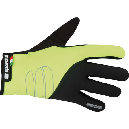 Sportful Essential Windstopper Glove - Medium Fluro Yellow/Black
