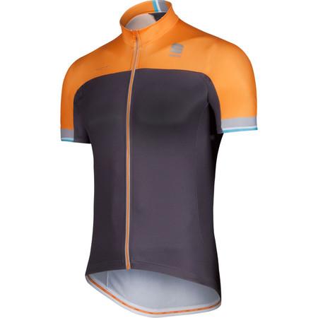 Sportful Exclusive BodyFit Pro Team Jersey - Small Black/Orange Fluo