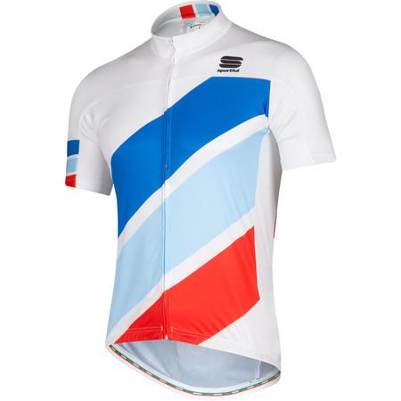 Sportful Exlusive Stripes BodyFit Team Jersey - Small White