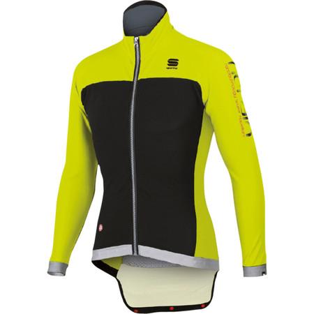 Sportful Fiandre No-Rain Jacket - X Small Black/Yellow Fluro