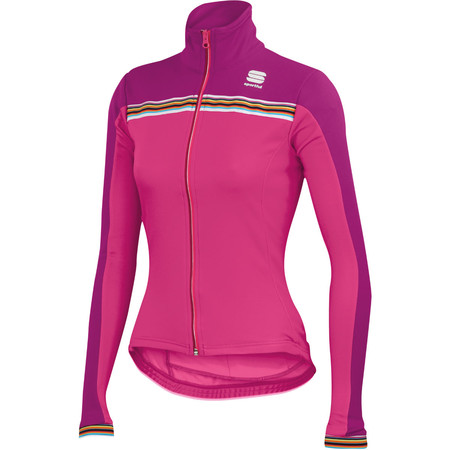 Sportful Women's Allure Thermal Jersey - Large Fuchsia/Orange/Plum