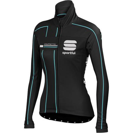 Sportful Women's Gruppetto Pro Jacket - Medium Black/Grey/Aqua