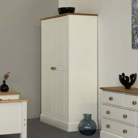 Steens Balmoral White 2 Door Wardrobe