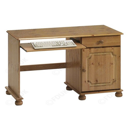 Steens Kensington Single Pedestal Desk In Pine