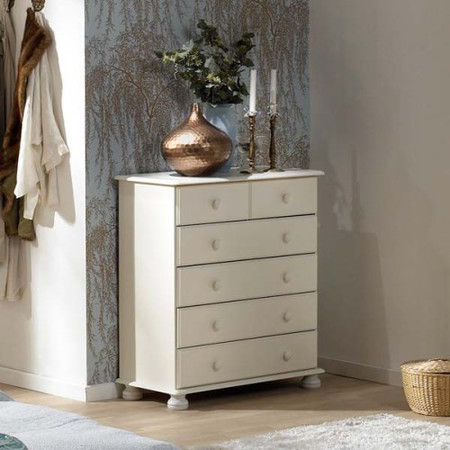 Steens Richmond White 2+4 Drawer Chest