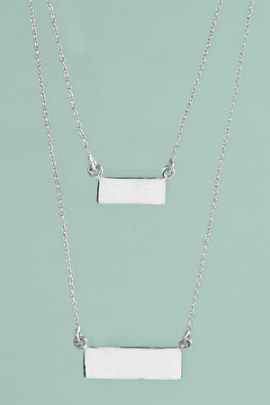 Sterling Silver Layered Necklace silver