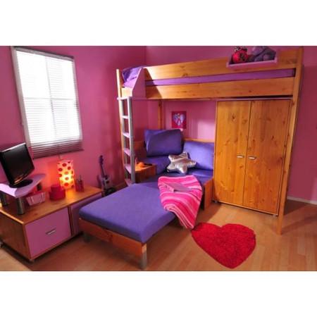 stompa combo kids natural highsleeper bed and tv unit furniture set pink sofa bed casa kids furniture