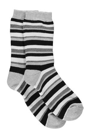 Stripey Cosy Lined Socks grey