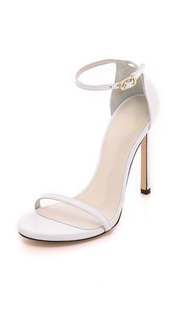 Stuart Weitzman Nudist Sandals - White