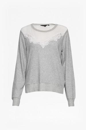 Summer Ditton Lace Sweatshirt - Grey Mel/Ivory
