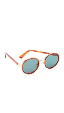 Sunday Somewhere Ned Sunglasses - Chocolate Tortoise/G15