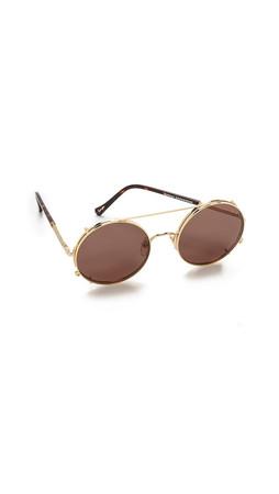 Sunday Somewhere Valentine Sunglasses - Gold/Brown